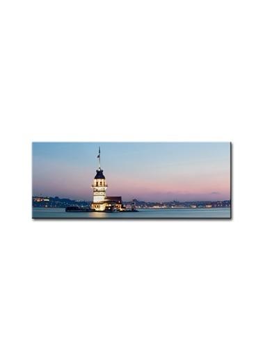 Arte Casero İstanbul Kanvas Tablo 50x150 cm  Renkli